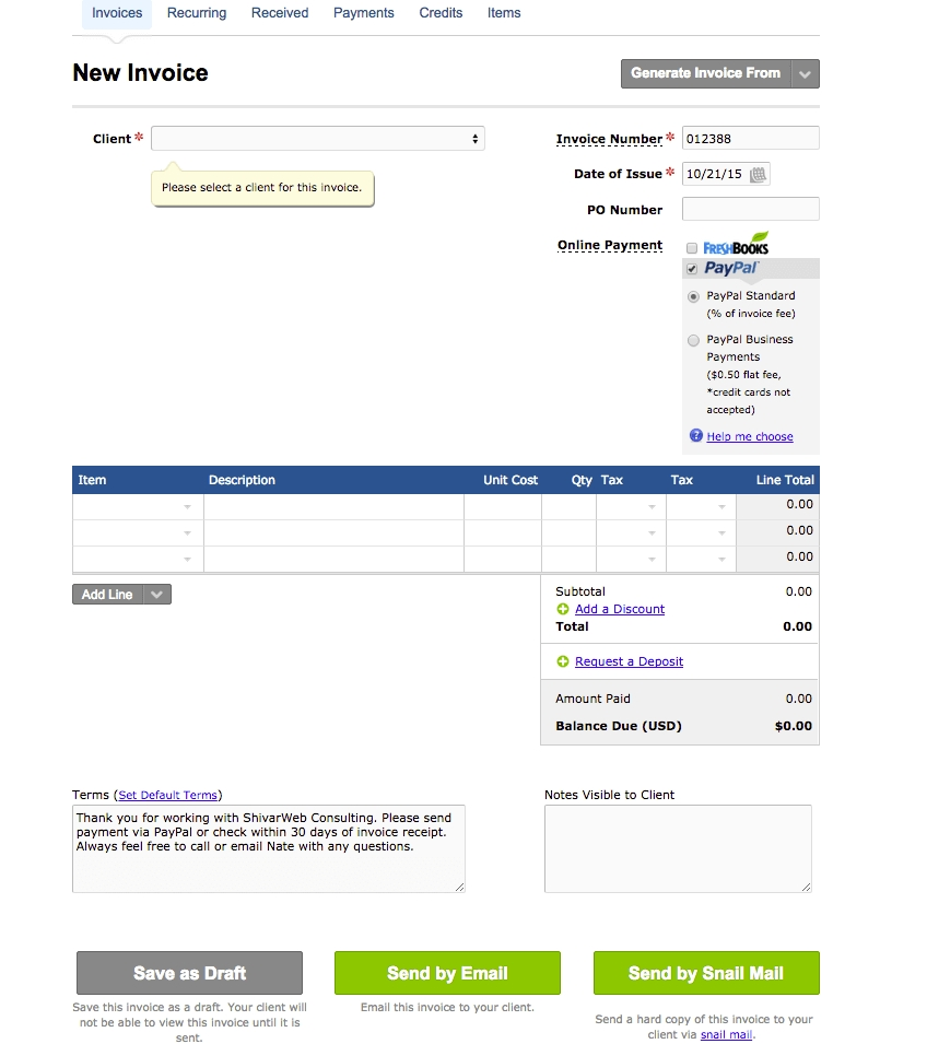 freshbooks review my 6 pros amp cons of using freshbooks for accounting freshbooks invoice template
