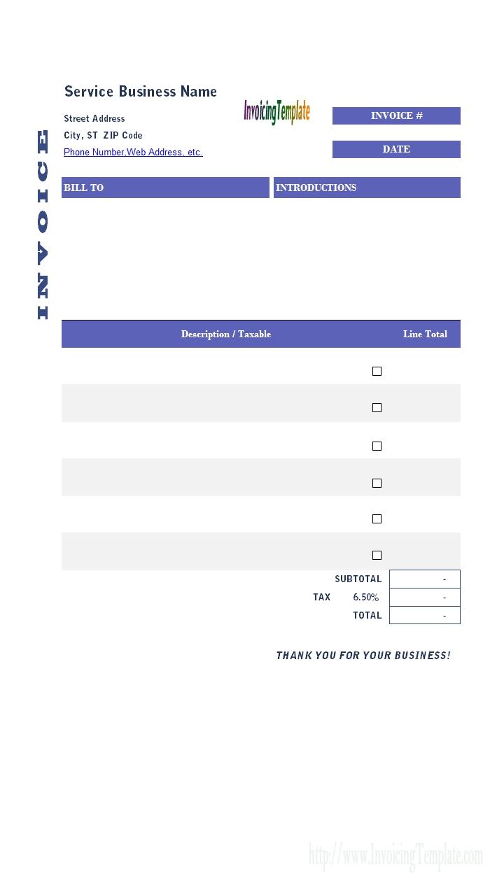 general invoice template general invoice templates excel 700 X 1259