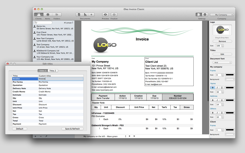 idea invoice apple mac os x apple invoice software