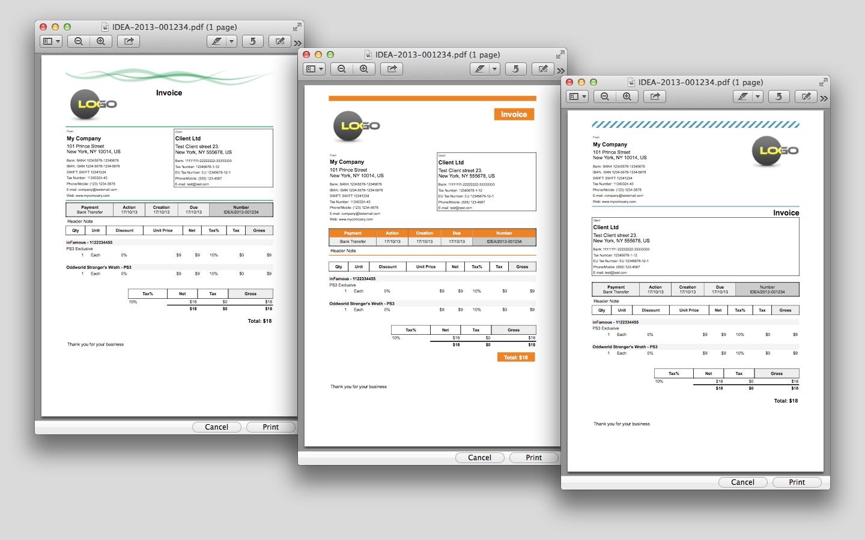 idea invoice apple mac os x invoice app for mac