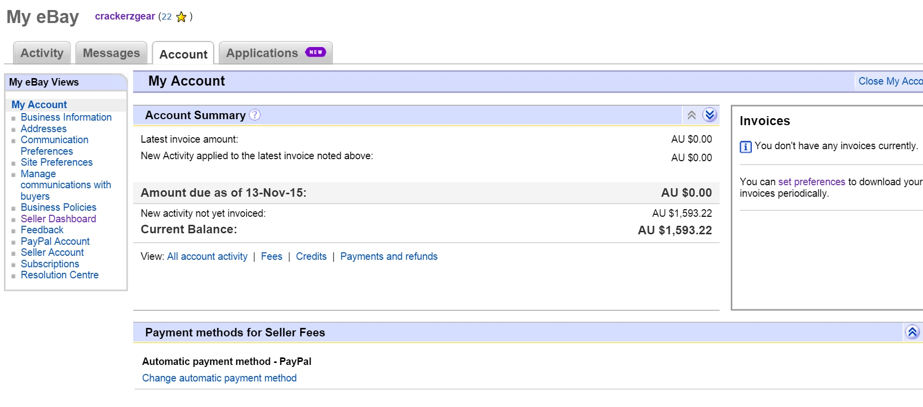 Ebay Invoice Fee