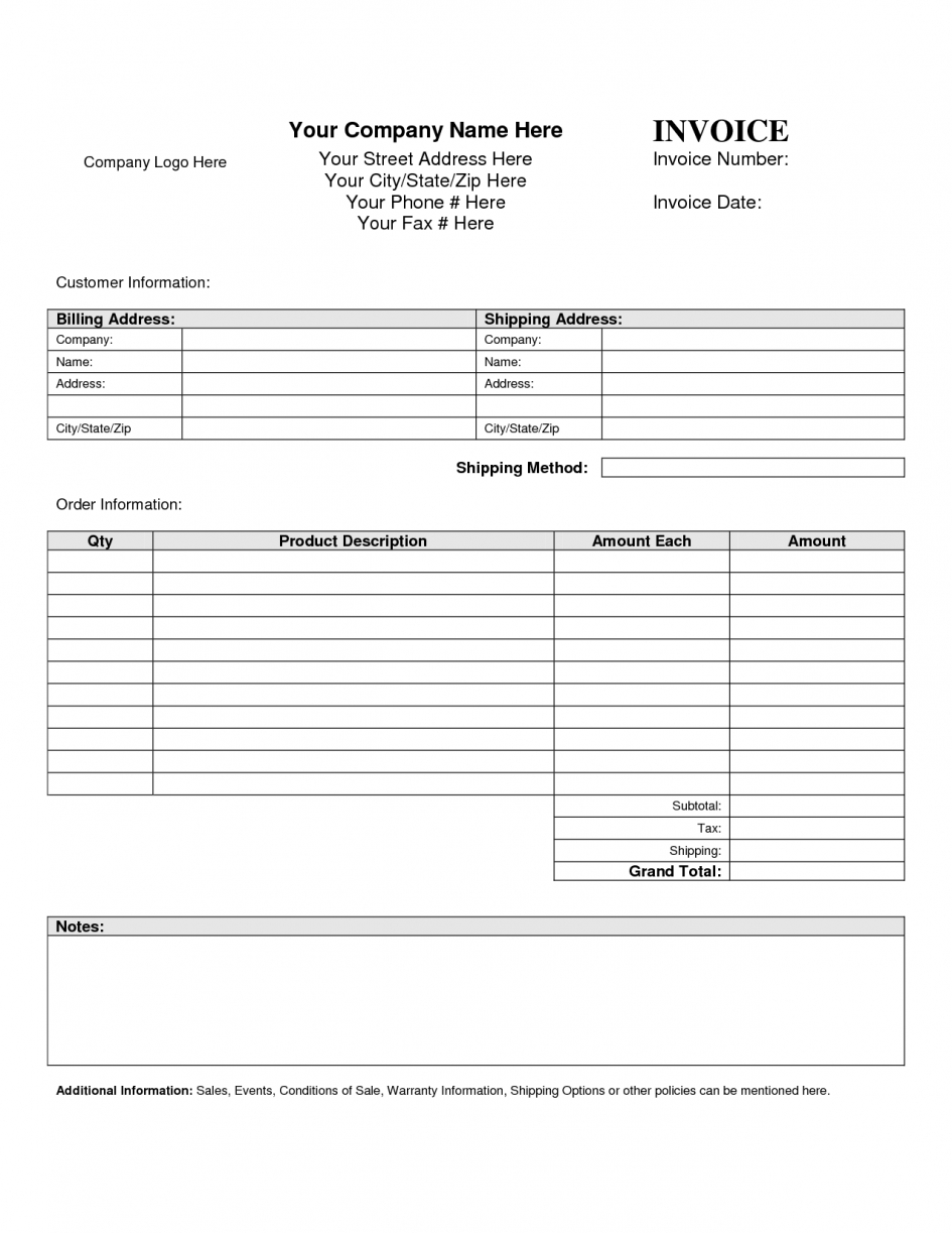 Free Billing Invoice Templates