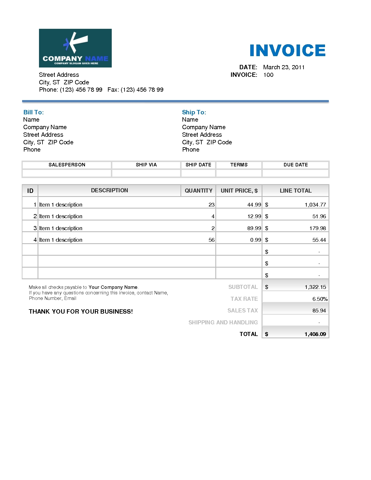 invoice template on excel invoice template free 2016 roofing invoice template