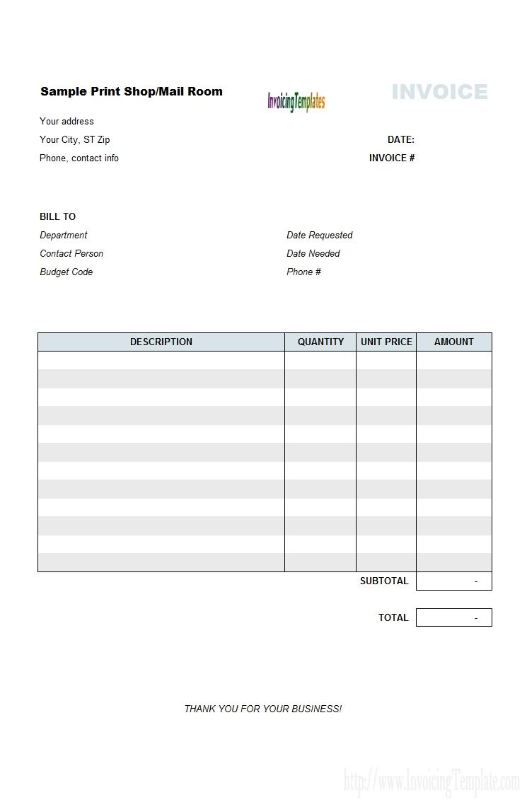 printable invoice templates free printable invoice generator