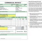 Shipping Commercial Invoice