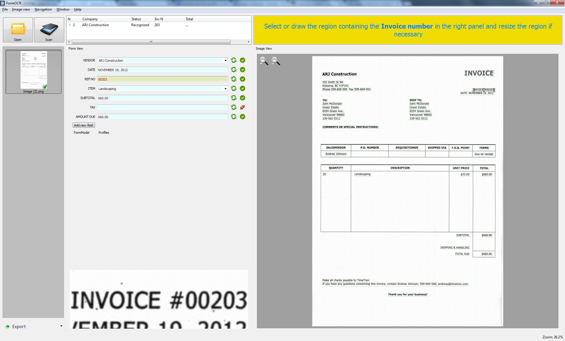 Automatic Invoice Processing