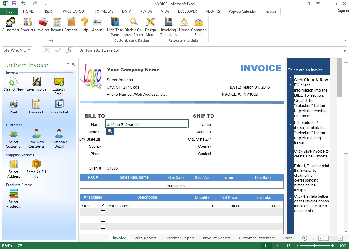 uniform invoice software excel invoice manager excel invoice manager