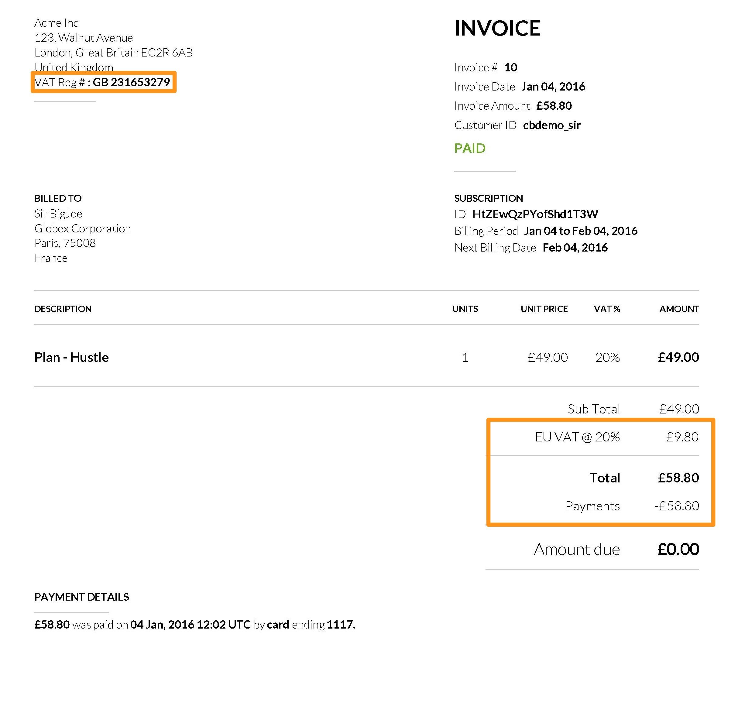 vat on invoice taxes eu vat chargebee docs 2452 X 2370
