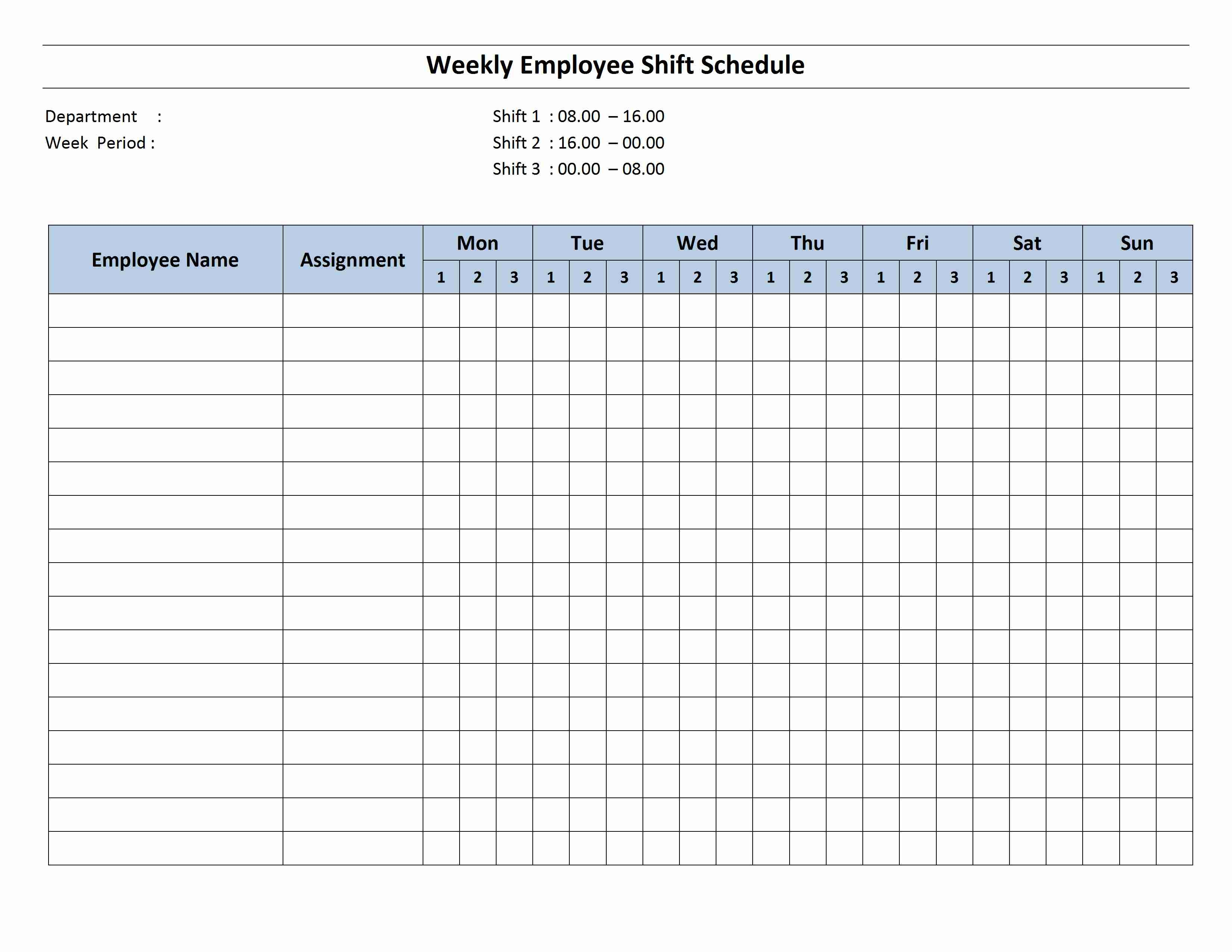 weekly 8 hour shift schedule freewordtemplates invoice schedule template