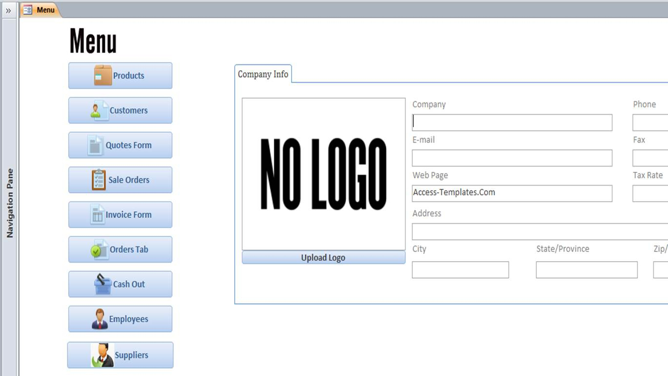 access database templates access invoice database