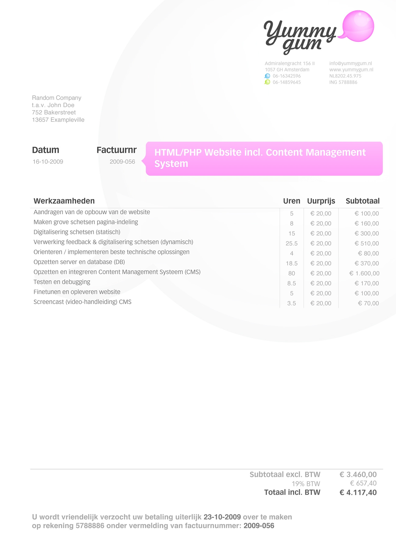 best invoice designs invoice like a pro examples and best practices smashing magazine 1300 X 1840
