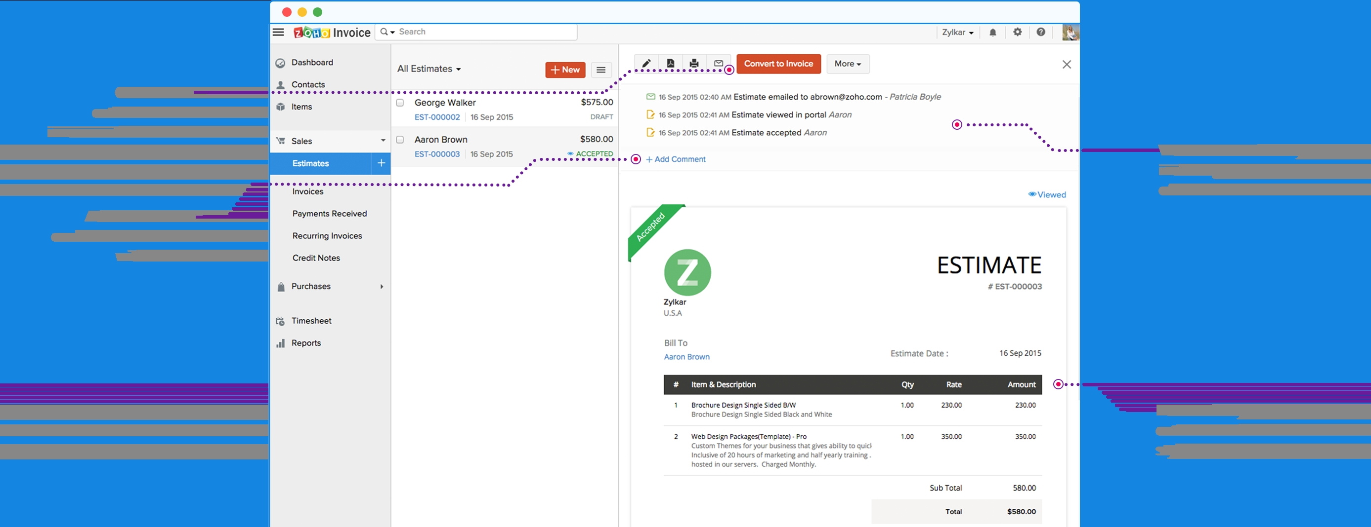 features online invoices software invoices and estimates software