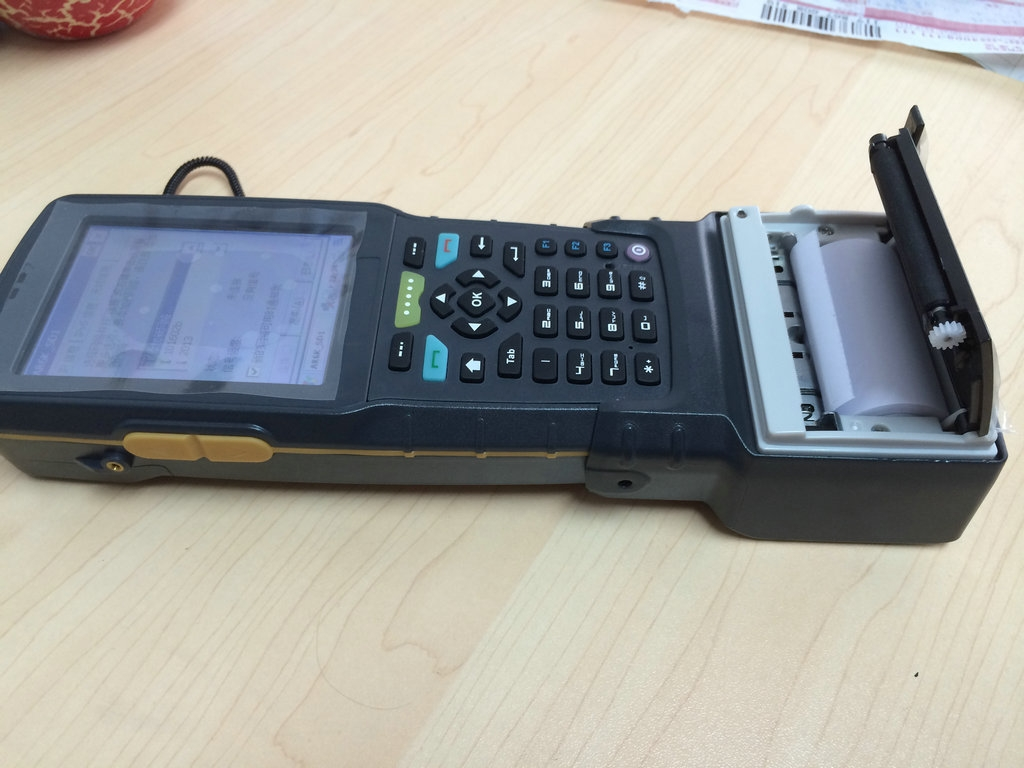 handheld device with thermal printer portable phone features portable invoice printer