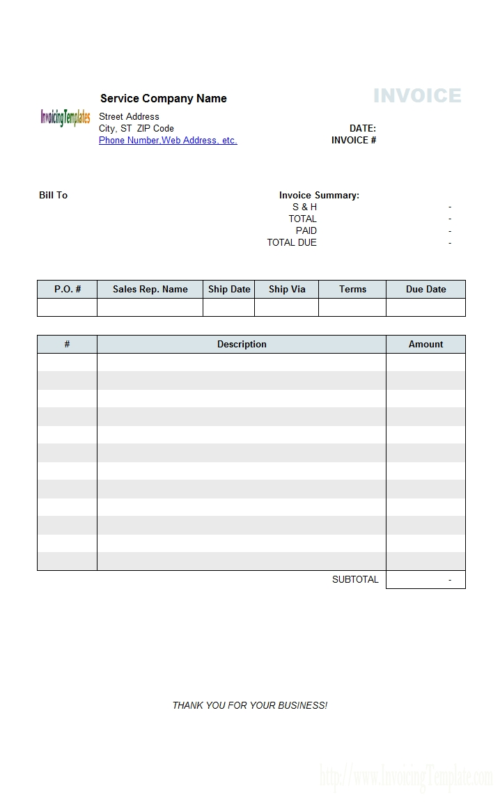 purchase order invoice template free engineering service billing sample 718 X 1152