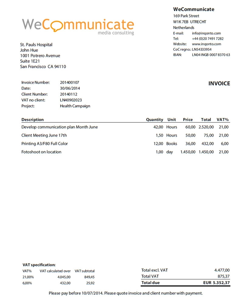 self employment invoice inqonto online accounting for freelancers self employed 800 X 1003