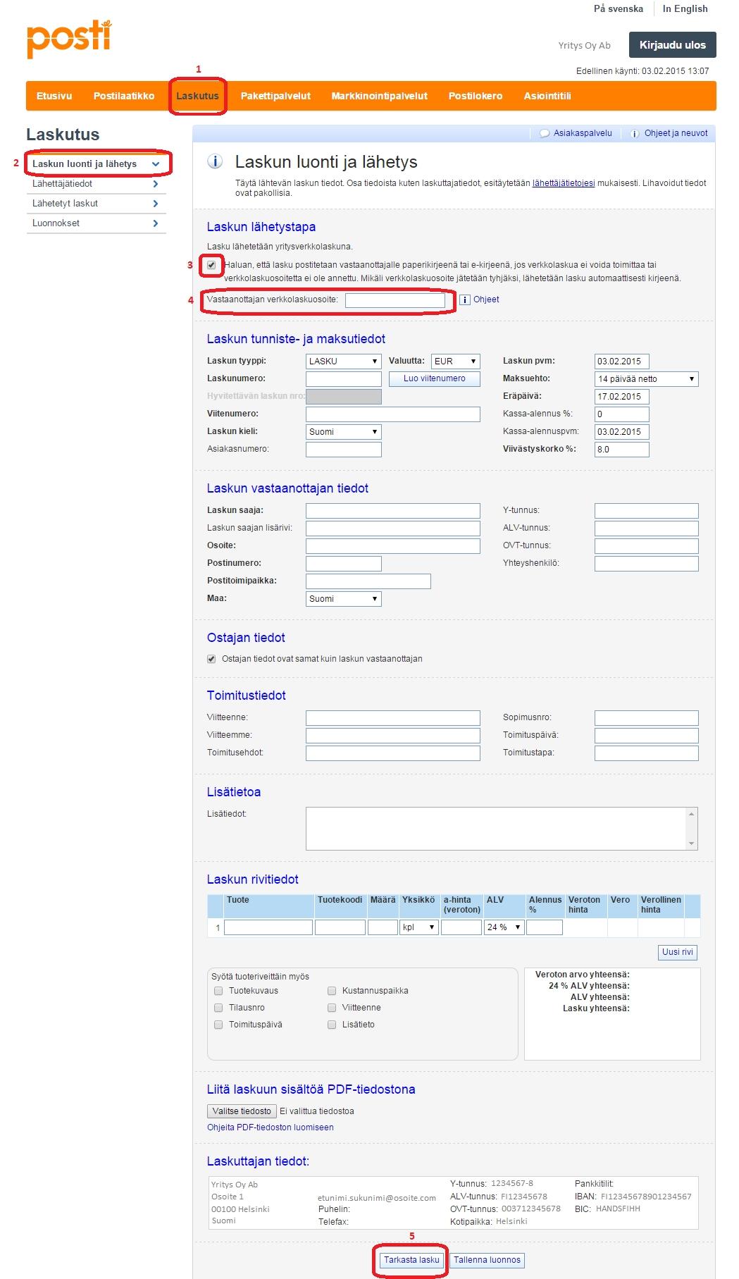 sending an e invoice sending an invoice