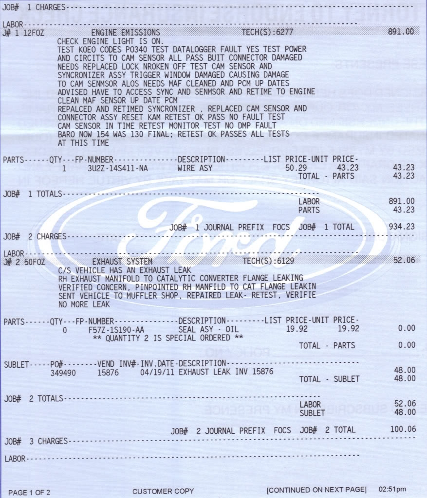 Ford F150 Invoice * Invoice Template Ideas