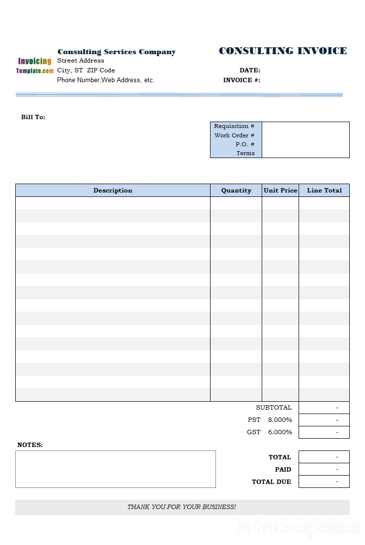 consulting invoice template consulting invoice templates 731 X 1101