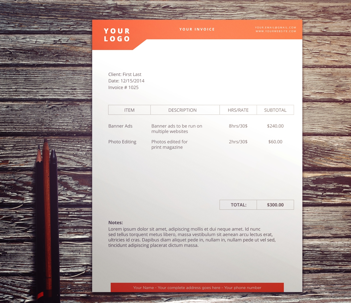 cool invoice designs don39t hold back on your invoice 25 inspiring designs 1160 X 1000