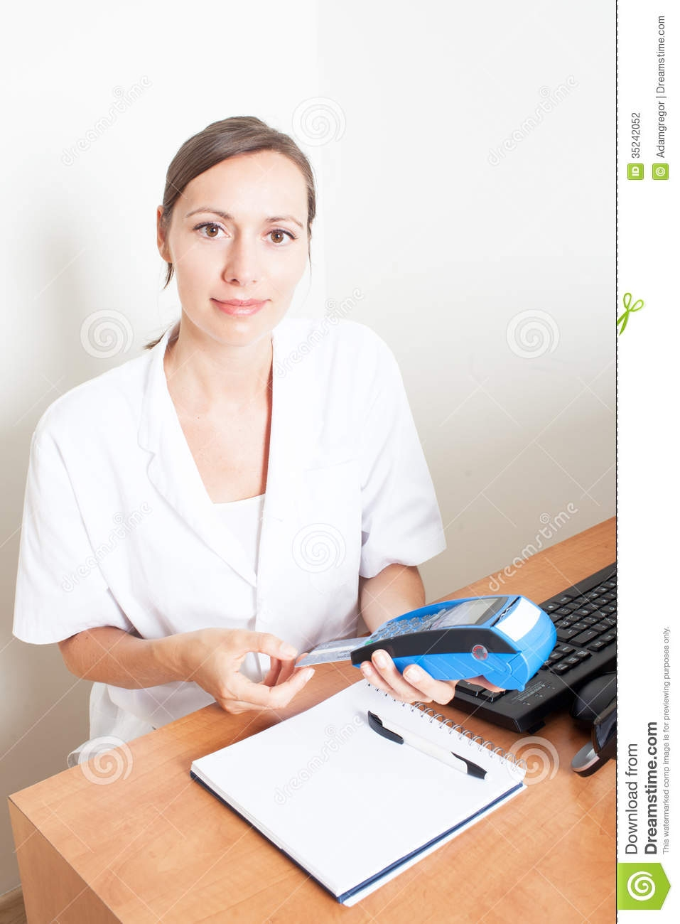 doctor preparing an invoice stock photography image 35242052 preparing an invoice