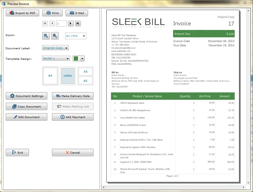 free inventory management software sleek bill india invoice and inventory software free download