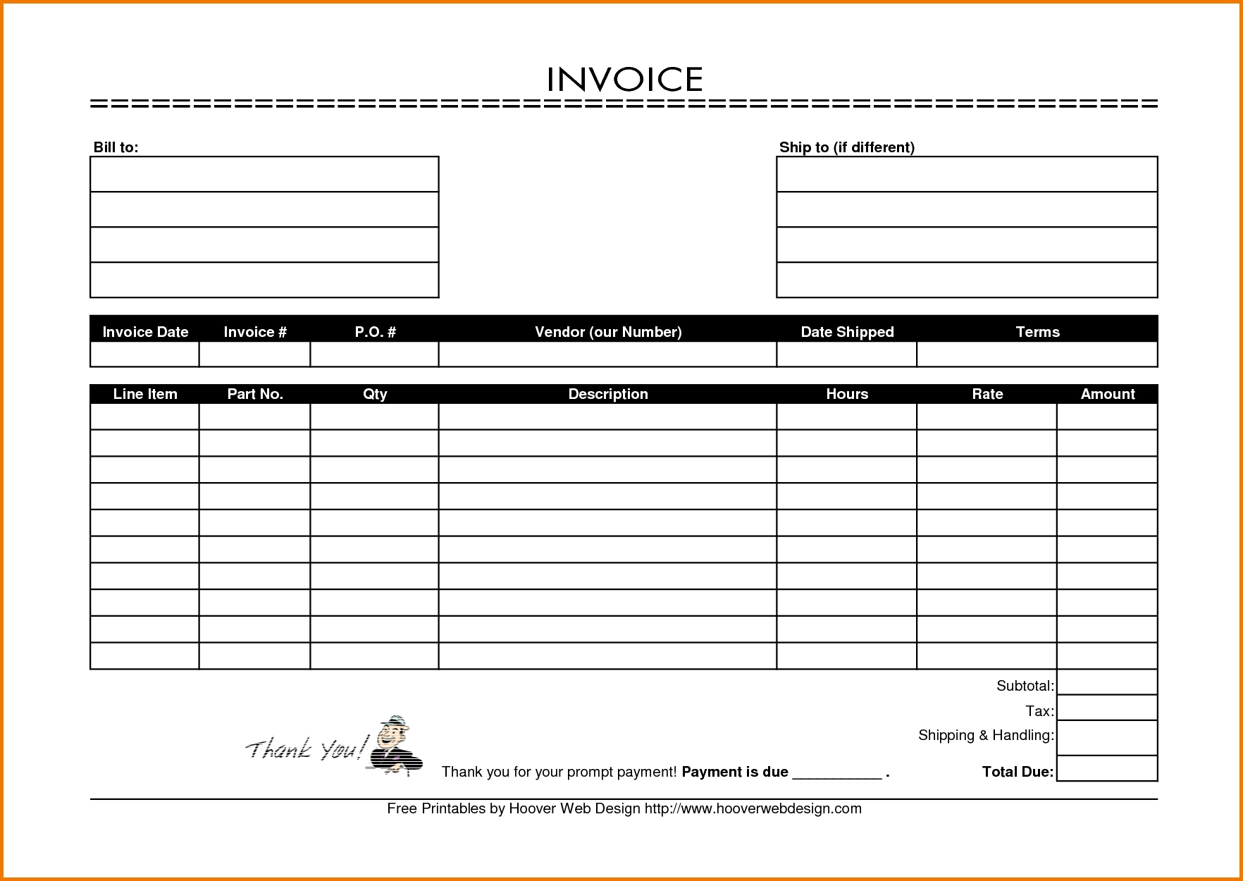 free printable blank invoice forms 4 printable blank invoice template expense report 1764 X 1250