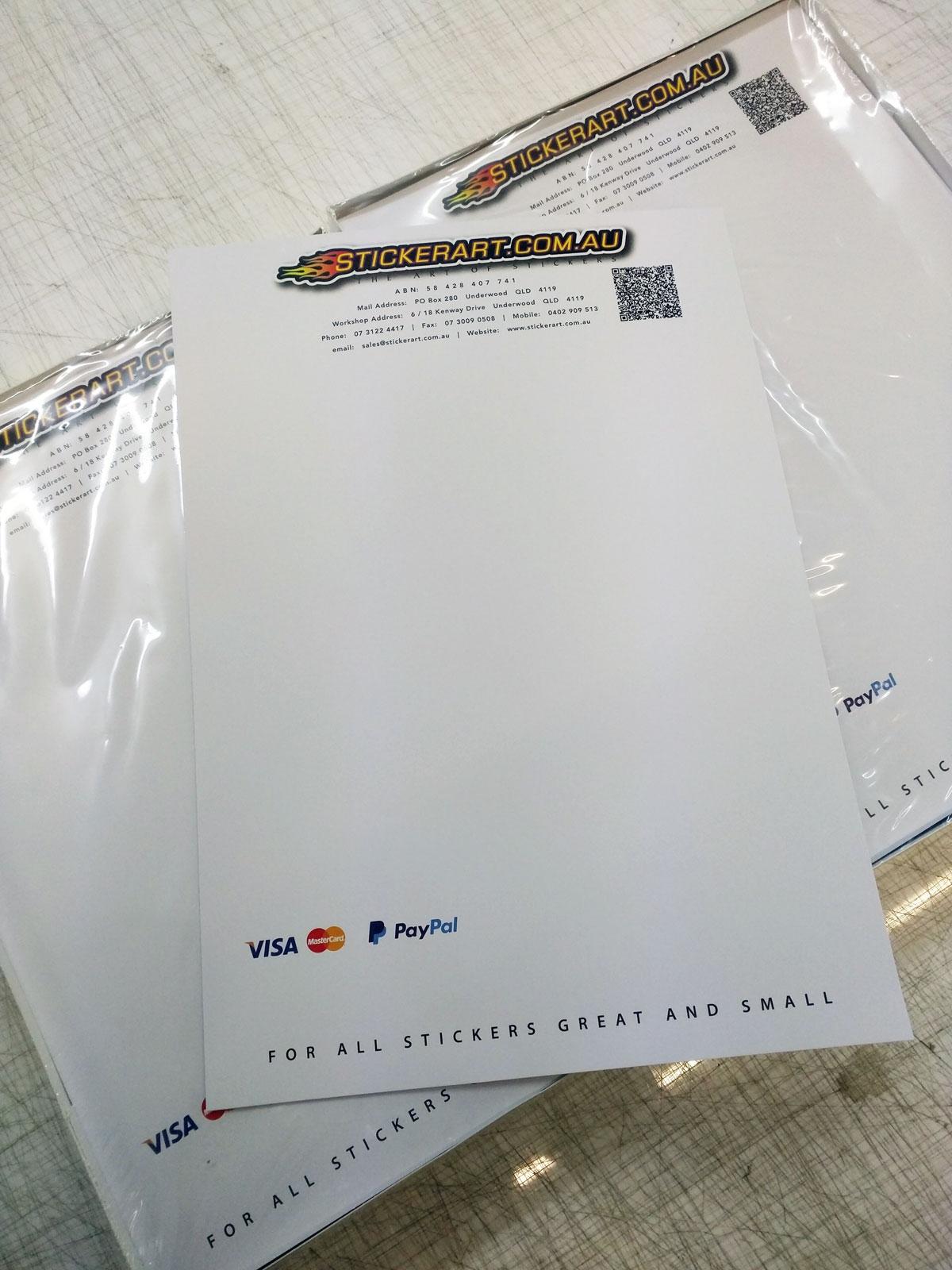 google profiles pre printed invoices