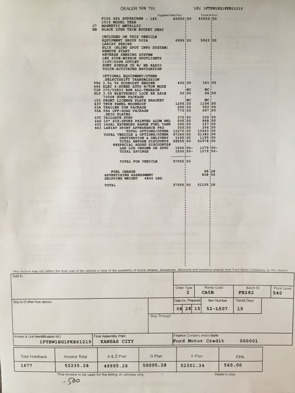 help on invoice ford f150 forum community of ford truck fans ford f150 invoice