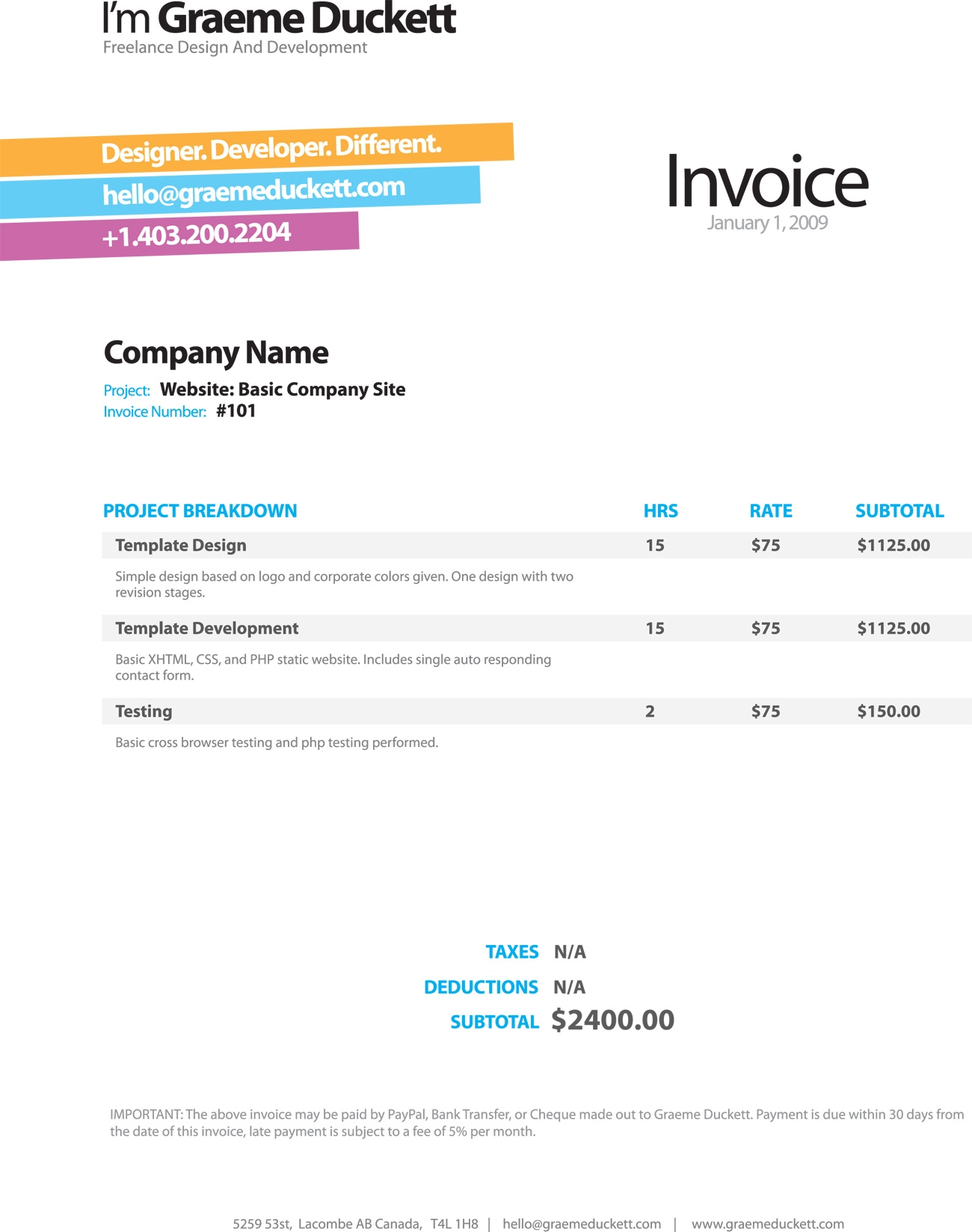 invoice like a pro examples and best practices smashing magazine nice invoice template