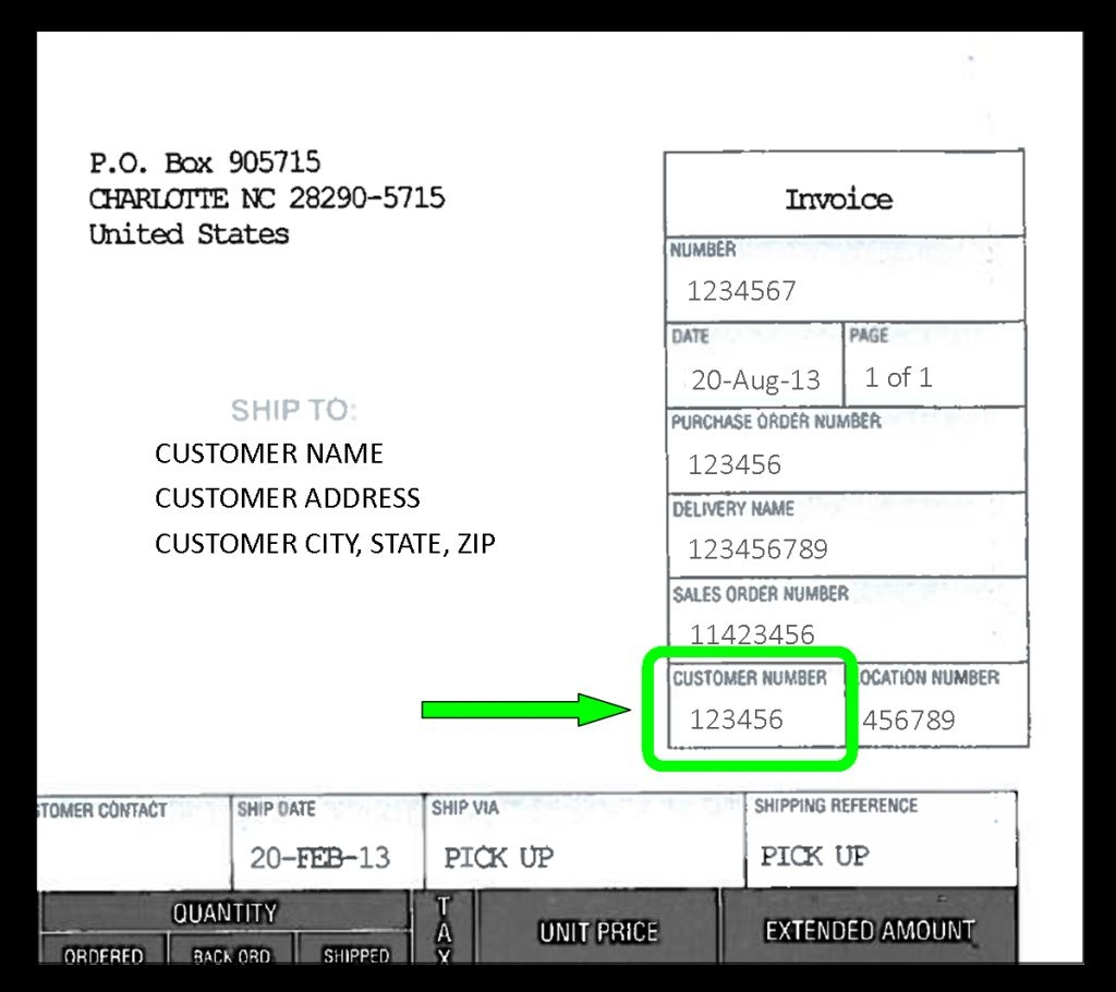 Invoice Number Format