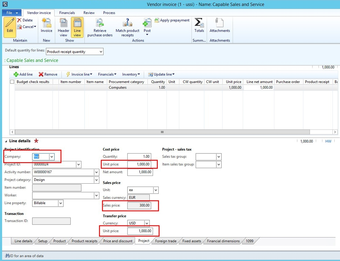 new intercompany projects functionality in microsoft dynamics ax vendor invoice processing