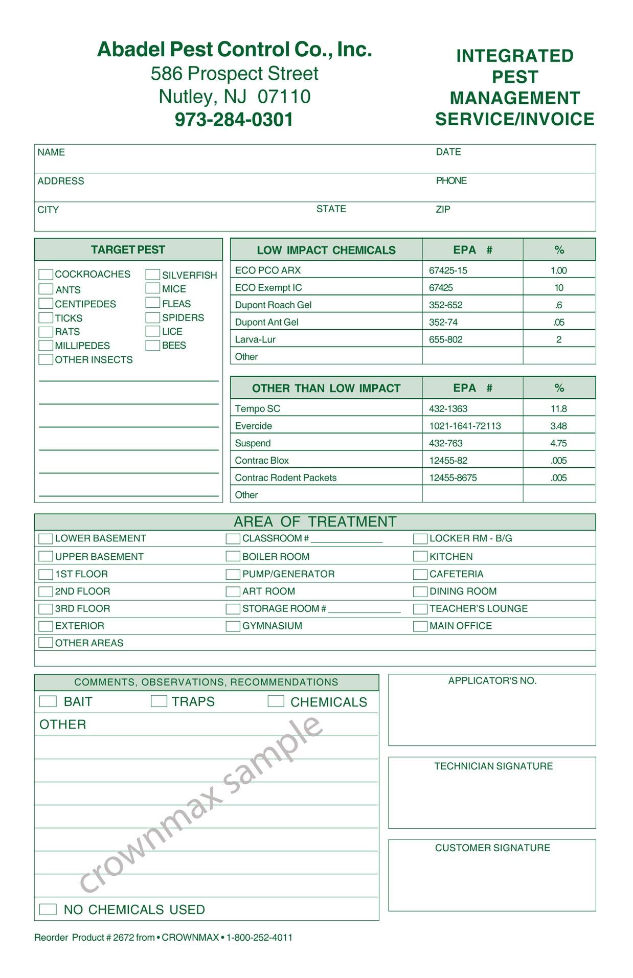 pest control invoice software pest control invoice invoic pest pest control invoices