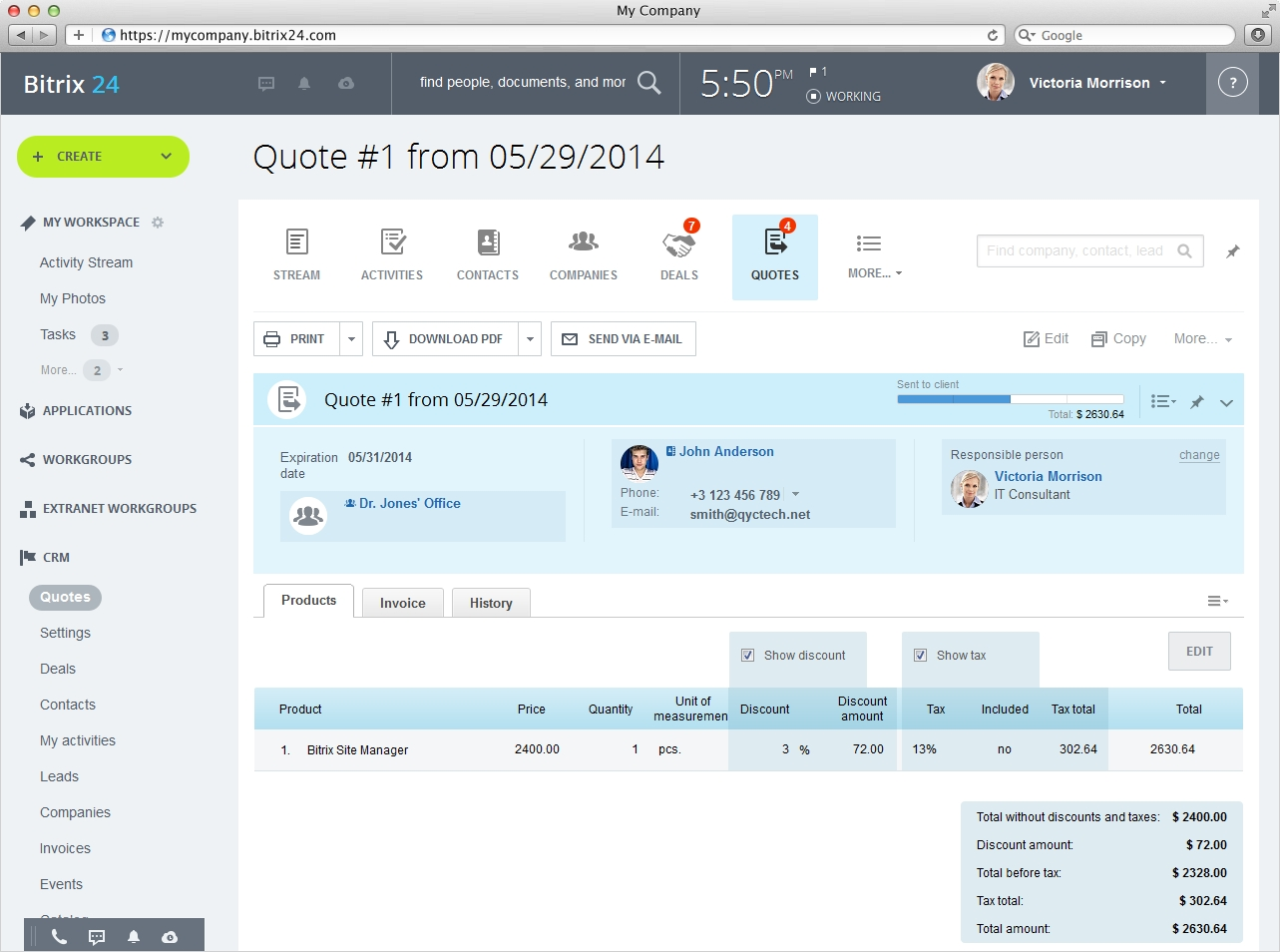 quote and invoice software bitrix24 free quotation and invoice software 1283 X 954