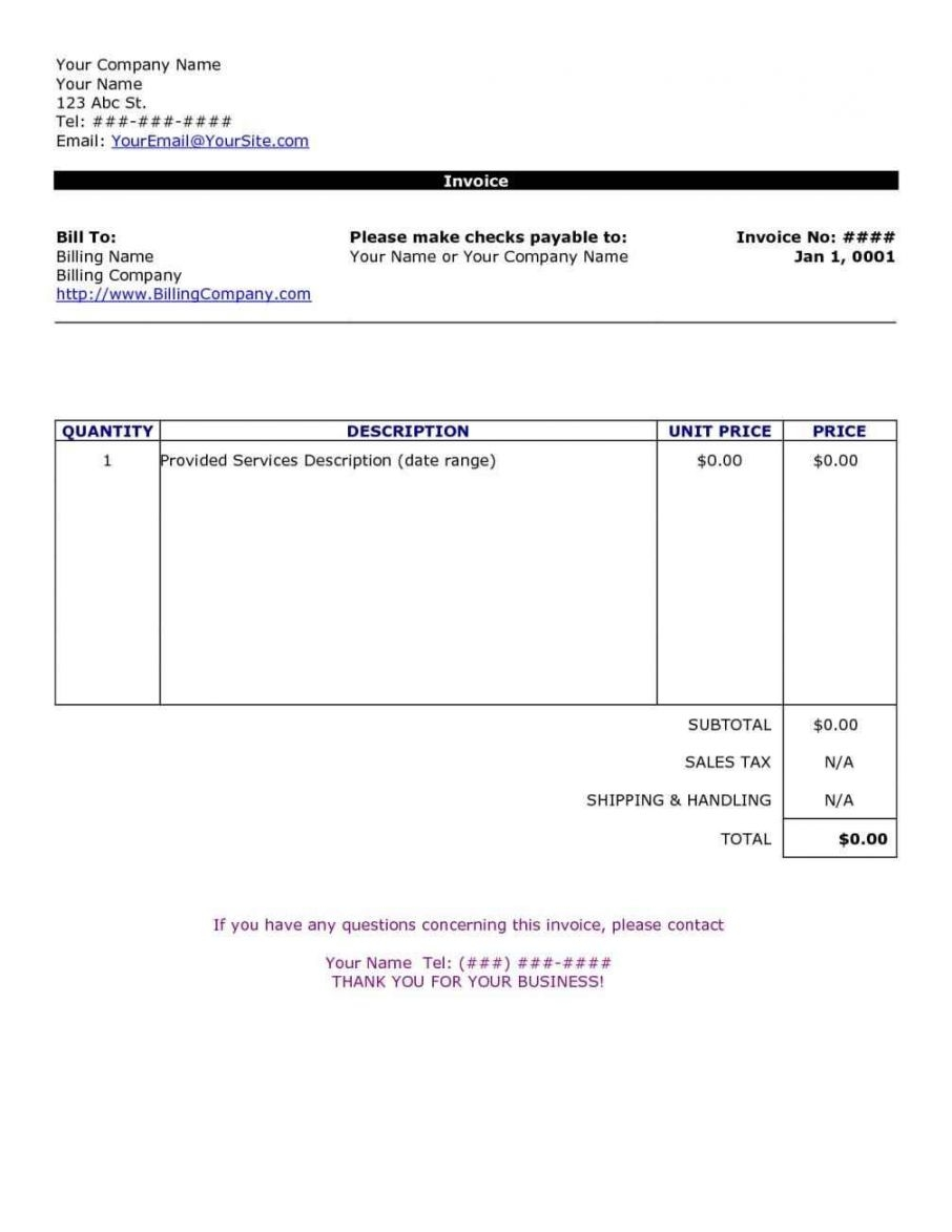 simple invoice template word simple invoice template word invoicegenerator 906 X 1173