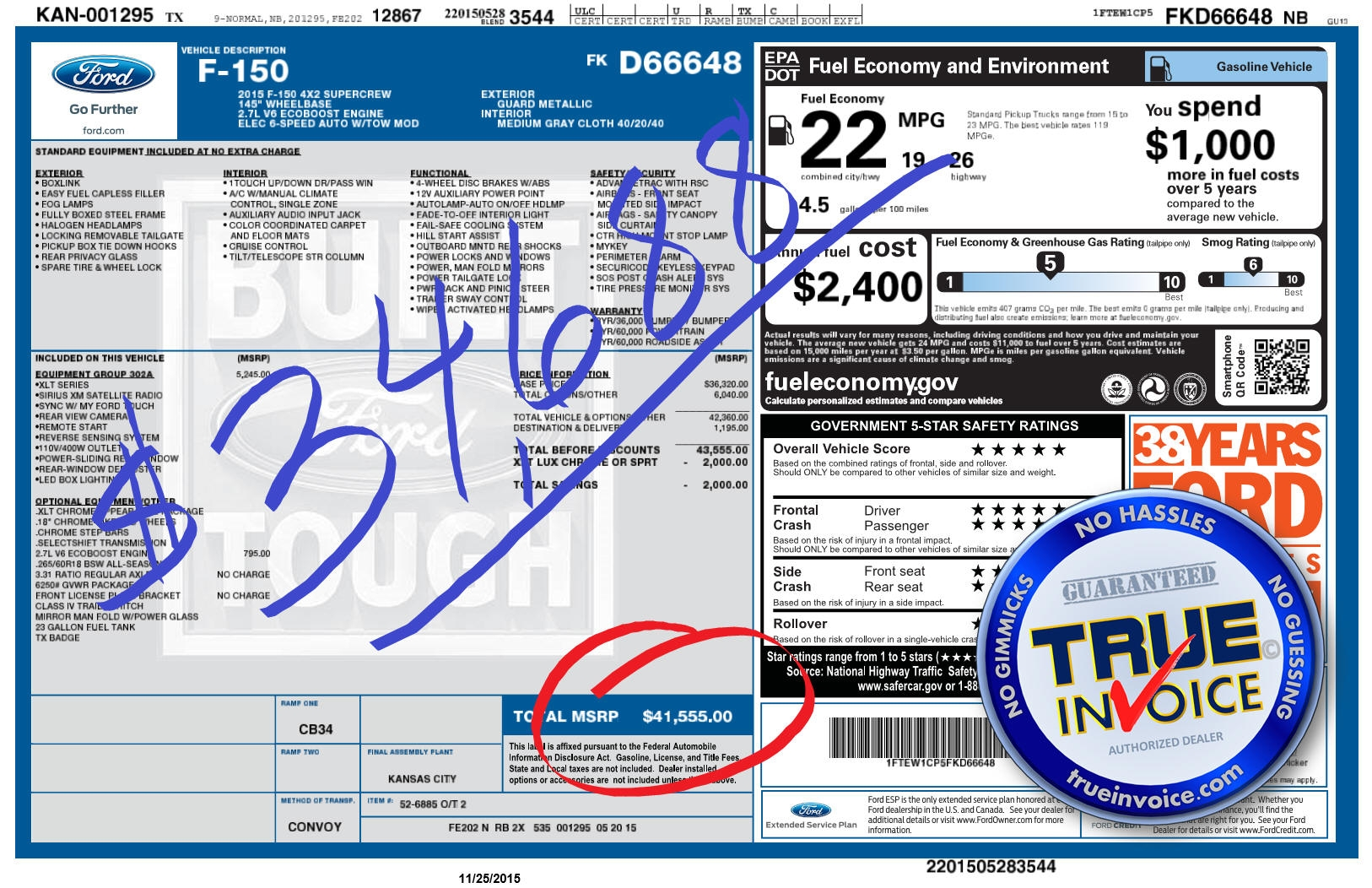 true invoice 2016 ford f150 vw invoice pricing