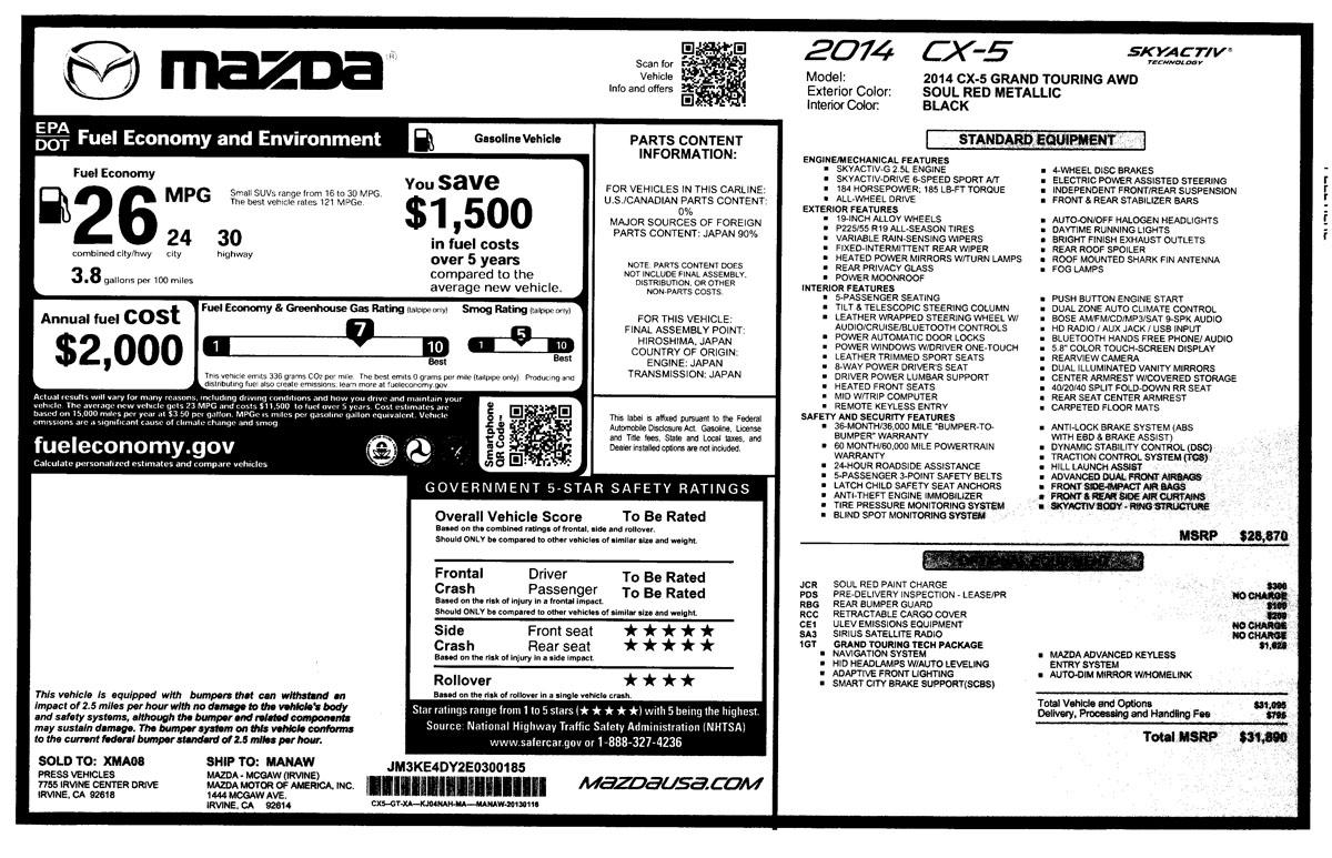 2015 mazda cx 5 our review cars invoice price vs sticker price