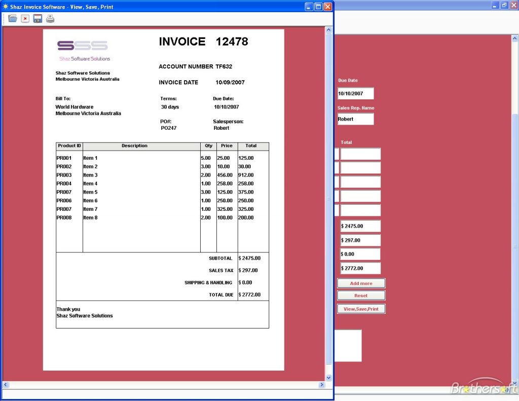 free invoice software invoicegenerator invoice programs for small business