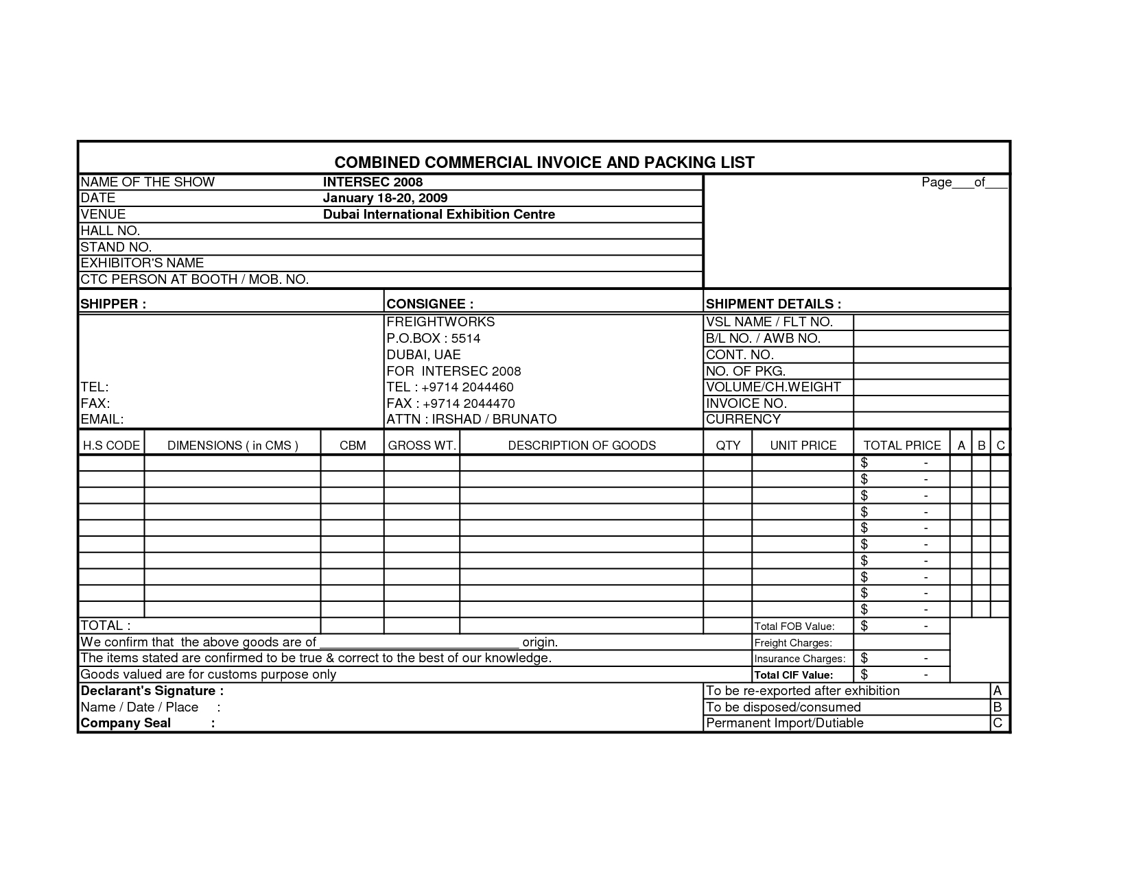 international invoice format in excel invoicegenerator international invoice format