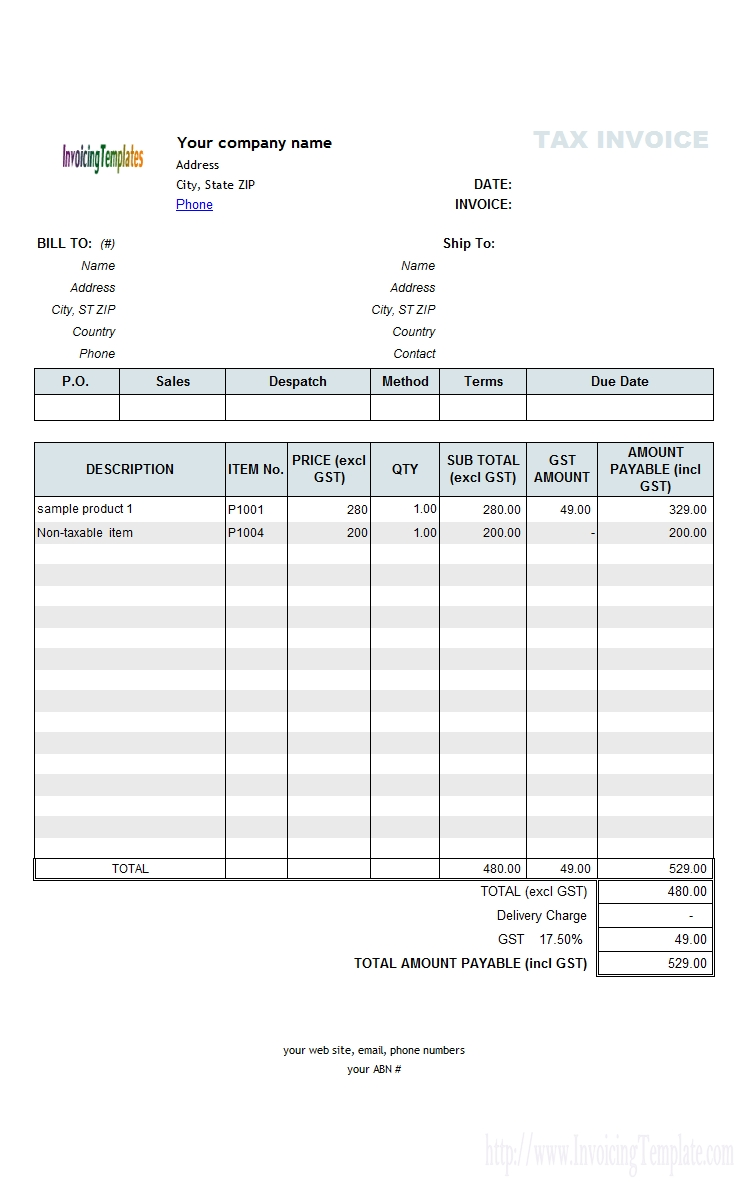 invoice template australia for mac invoice template sample invoice template australia
