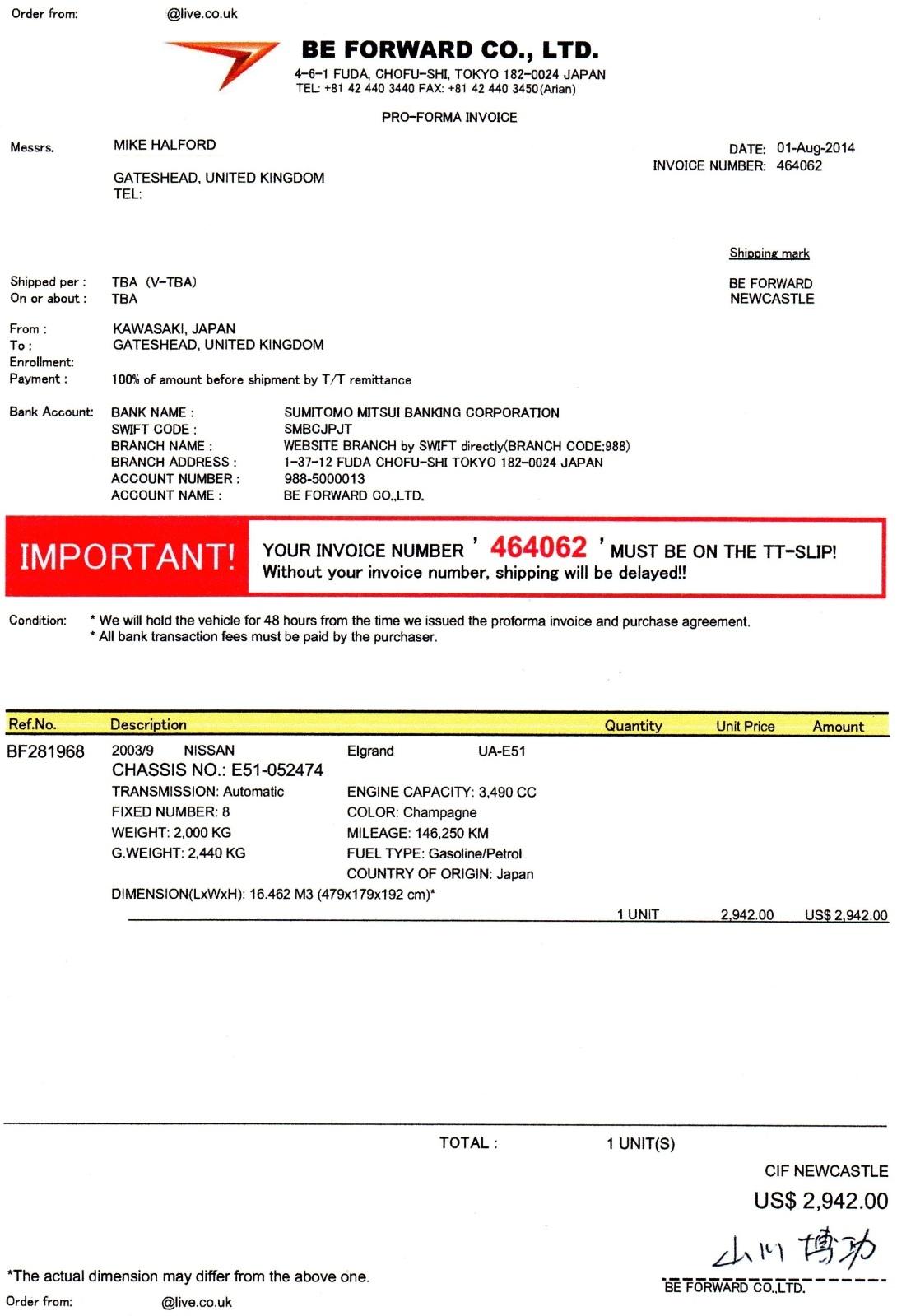 my import diary elgrandoc forum pi proforma invoice