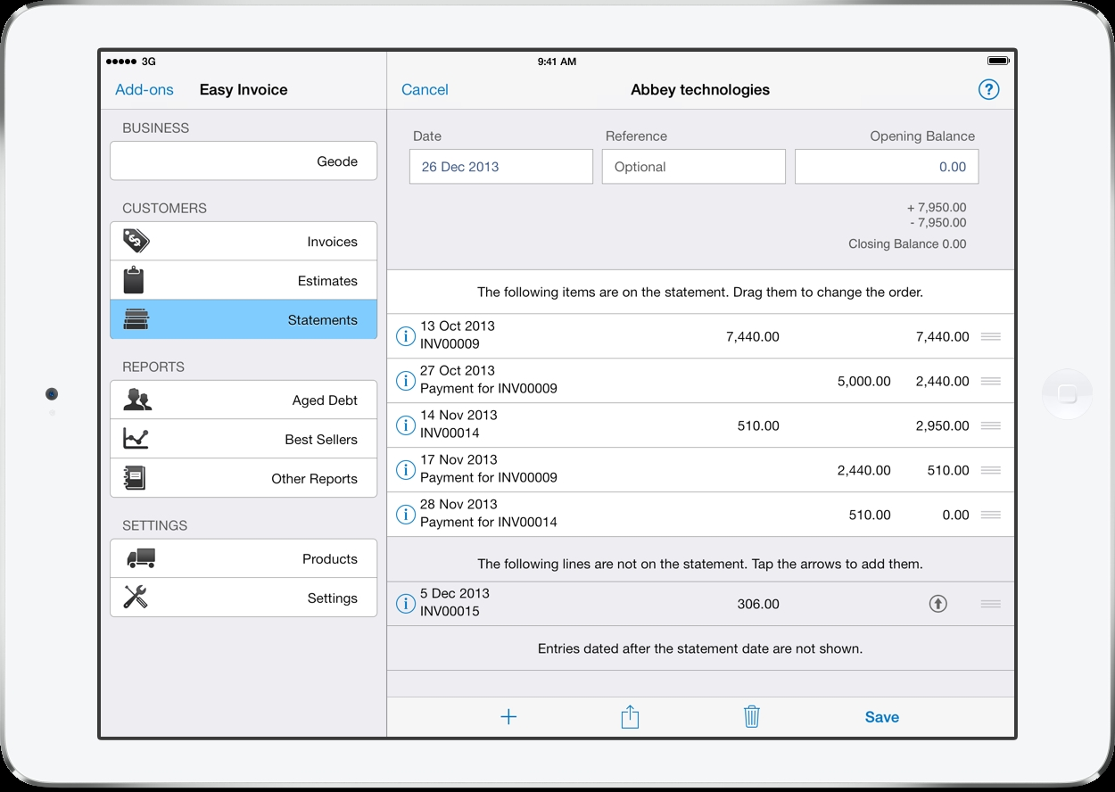pdf invoicing for ipad iphone and mac easy invoice invoice app ipad