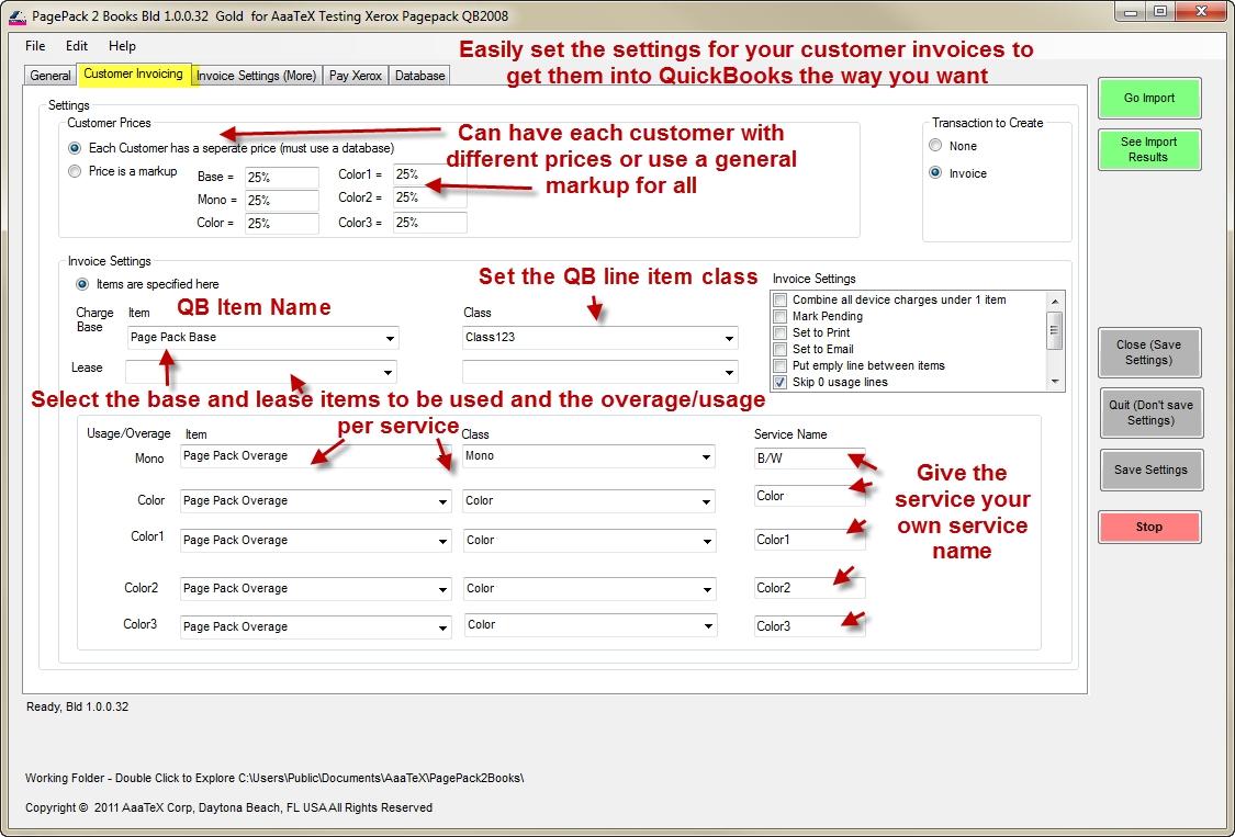 quickbooks invoice manager aaatex pagepack 2 books quickbooks 1125 X 763