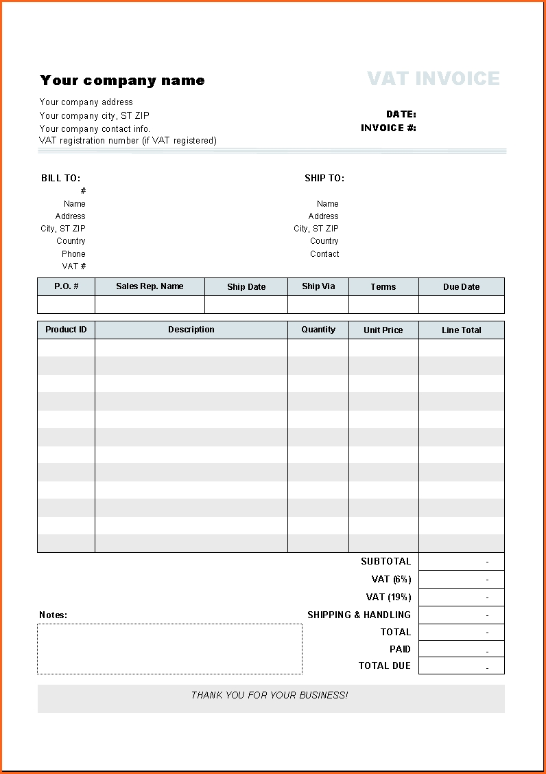 contractor invoice template doc – notators, Invoice examples