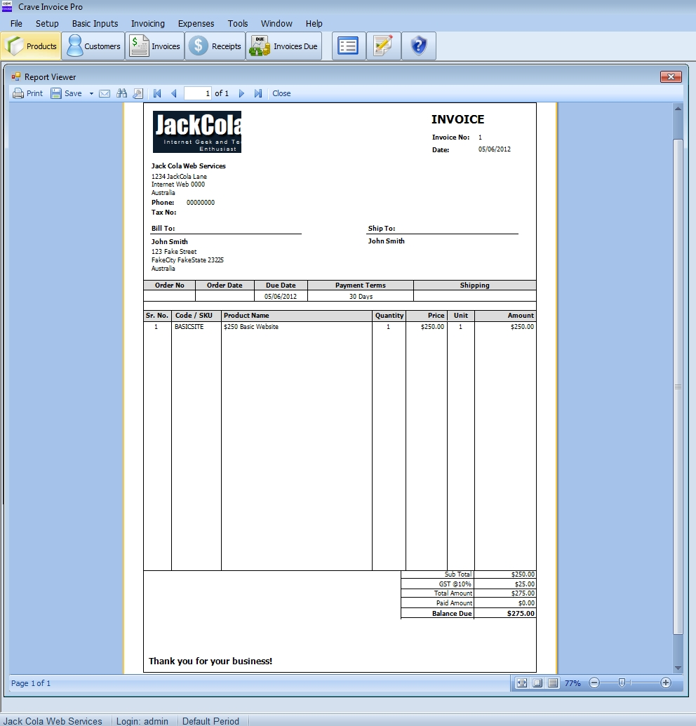 15 free copies of crave invoice pro to giveaway jackcola invoice printing software