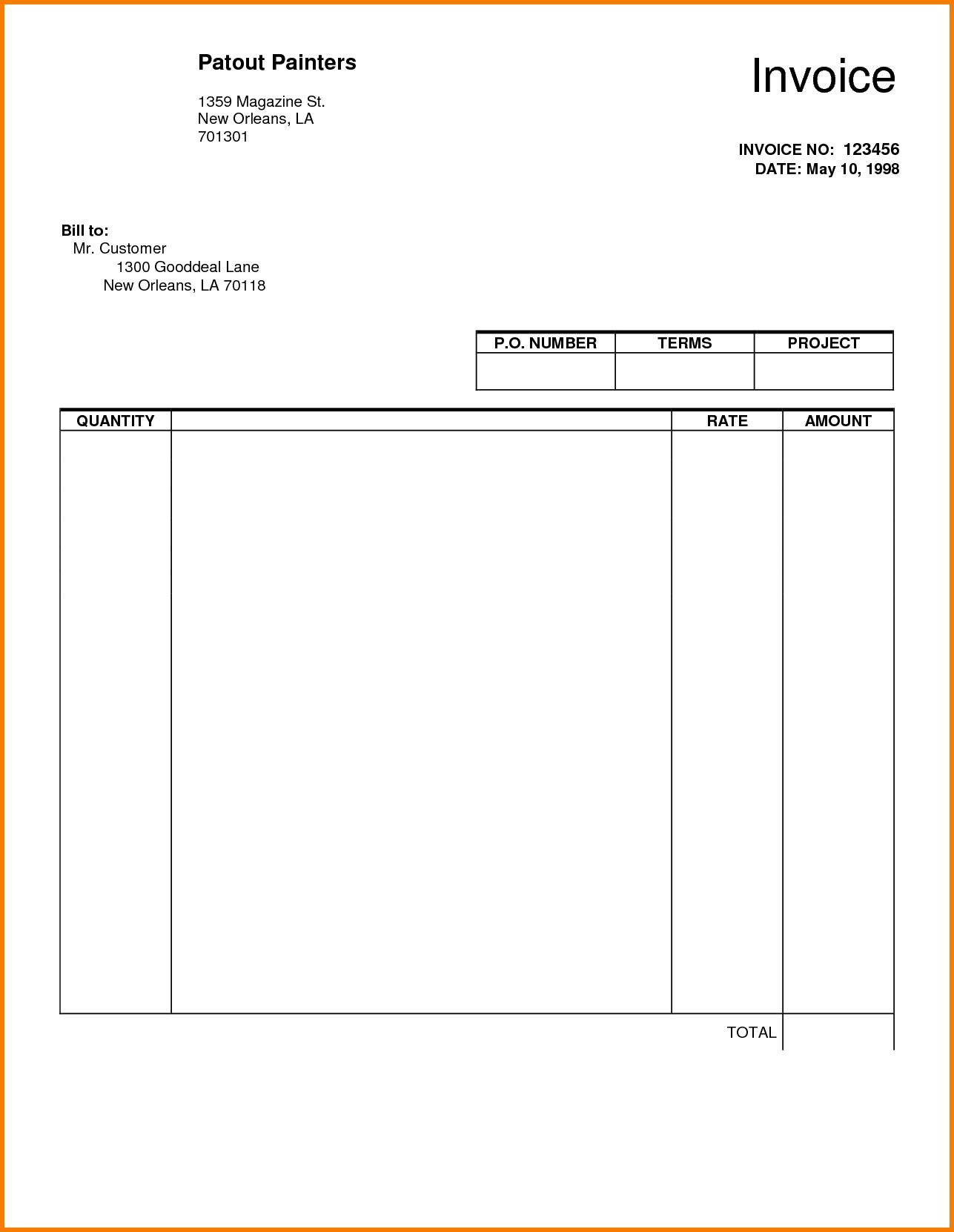 5 blank invoice template pdf receipt templates free blank invoice