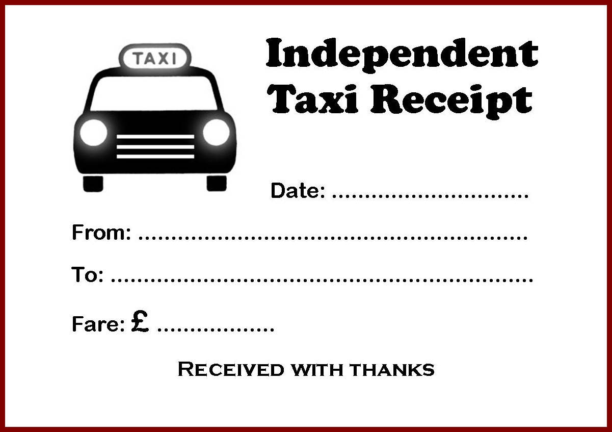 Doc580357 Taxi Bill Format in Word 7 Taxi receipt Templates – Receipt Format in Word