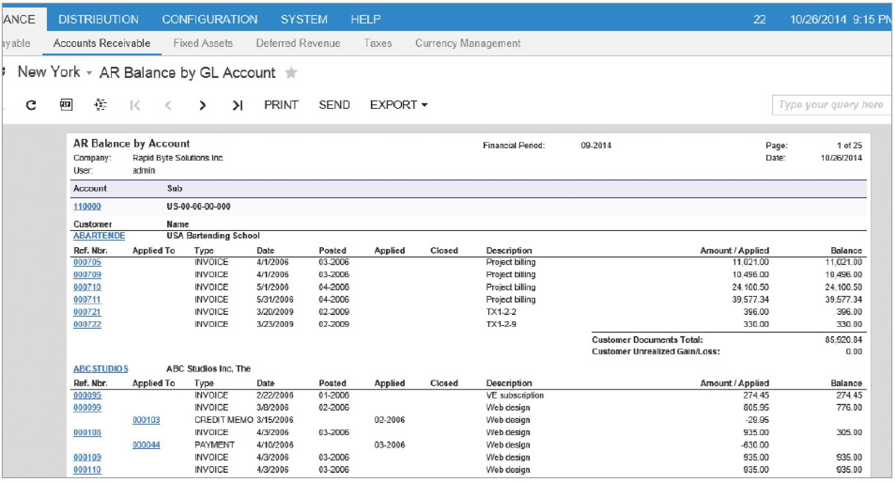 acumatica accounts receivable landfall solutions accounts receivable invoice