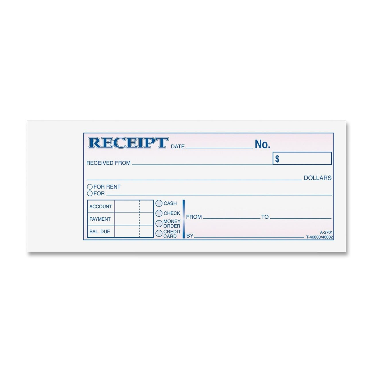 adams tc2701 carbonless receipt book 50 sheets tape bound 3 carbonless invoice books