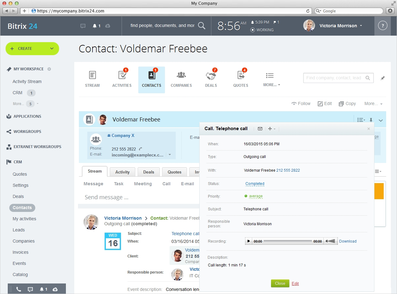 bitrix24 free quotation and invoice software free invoiceing software