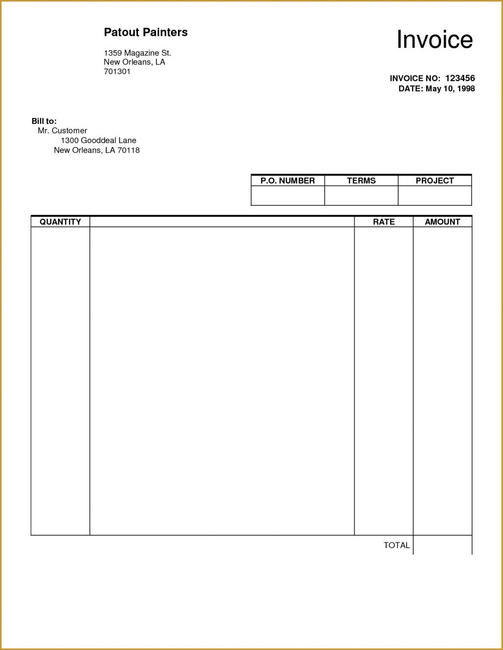 blank invoice templates invoicegenerator blank invoice template uk